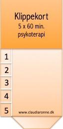 Klippekort 5 klip til psykoterapi